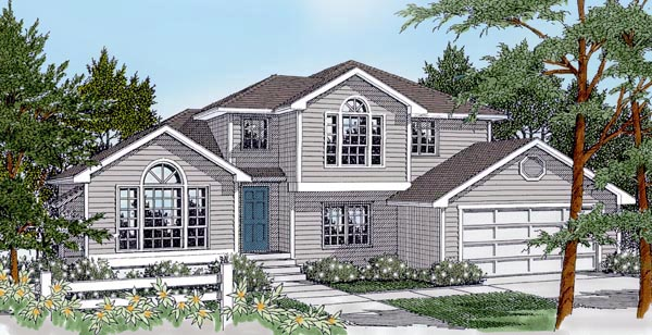 Colonial Contemporary Country Traditional House Plan 91617 Elevation