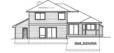 Colonial Contemporary Country Traditional House Plan 91617 Rear Elevation