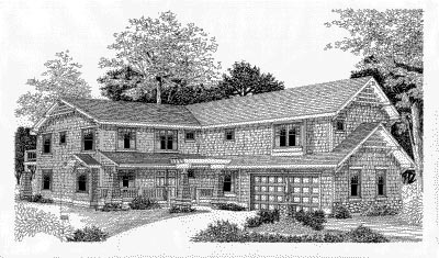 Country , Craftsman , Elevation of Plan 91619