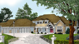 European Traditional House Plan 91621 Elevation
