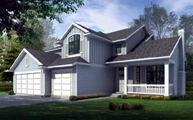 Country Traditional House Plan 91622 Elevation