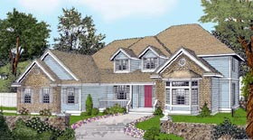 Country Traditional House Plan 91625 Elevation