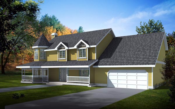 Country Farmhouse Victorian House Plan 91629 Elevation