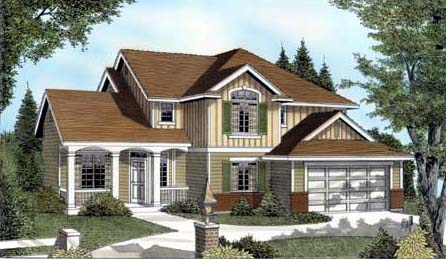 Country Craftsman Traditional House Plan 91630 Elevation