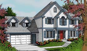Colonial Traditional House Plan 91633 Elevation