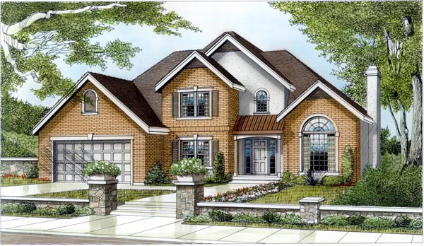 Country European Traditional House Plan 91634 Elevation