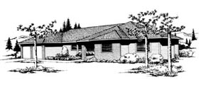 House Plan 91641 | Ranch Southwest Style Plan with 1659 Sq Ft, 3 Bedrooms, 2 Bathrooms, 2 Car Garage Elevation