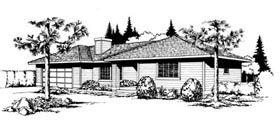 Ranch Southwest House Plan 91642 Elevation
