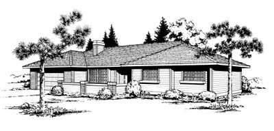 Ranch Southwest House Plan 91643 Elevation