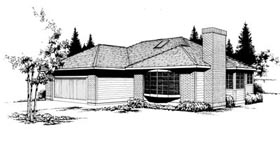 Contemporary House Plan 91647 Elevation