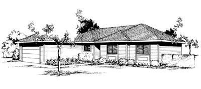 Contemporary Ranch Southwest House Plan 91648 Elevation