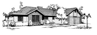Contemporary House Plan 91651 Elevation