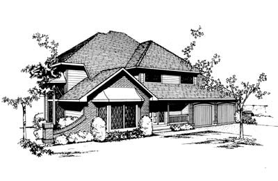 Contemporary European House Plan 91658 Elevation