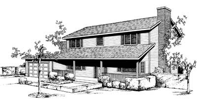Country Ranch House Plan 91659 Elevation
