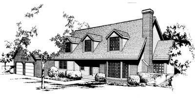 Cape Cod Country House Plan 91661 Elevation