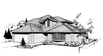 Southwest Traditional House Plan 91663 Elevation