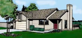 Contemporary Traditional House Plan 91666 Elevation