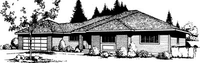 Prairie Style Southwest House Plan 91667 Elevation