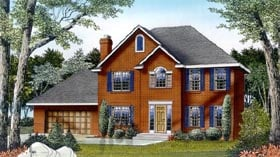 Colonial Traditional House Plan 91668 Elevation