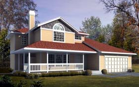 Country House Plan 91670 Elevation