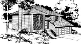 Contemporary Traditional House Plan 91672 Elevation