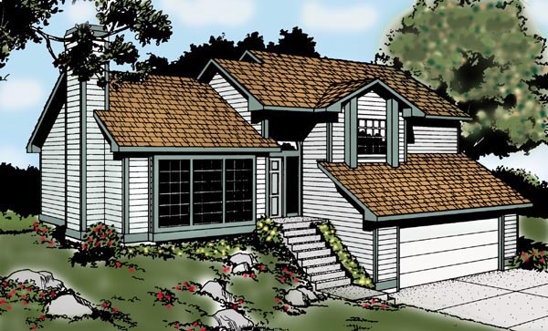 Contemporary Traditional House Plan 91673 Elevation