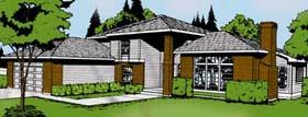 Contemporary Prairie Style Southwest House Plan 91674 Elevation