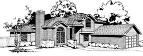 Contemporary Traditional House Plan 91675 Elevation