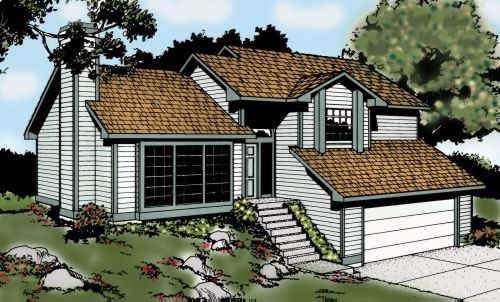 Contemporary Traditional House Plan 91676 Elevation