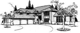 Country European Southwest Traditional House Plan 91680 Elevation