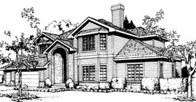 House Plan 91681 | Traditional Style Plan with 3294 Sq Ft, 5 Bedrooms, 4 Bathrooms, 3 Car Garage Elevation