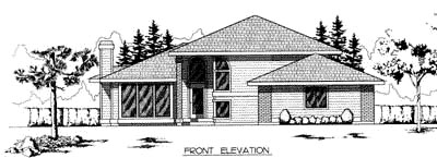 Contemporary Traditional House Plan 91685 Elevation