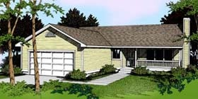 Country Ranch Traditional House Plan 91687 Elevation