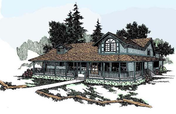 Country House Plan 91700 Elevation