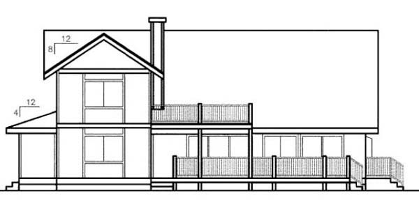 Country House Plan 91700 Rear Elevation