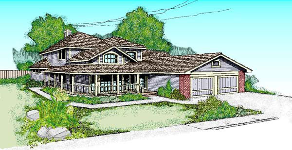 Country Southwest House Plan 91707 Elevation