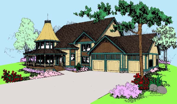 Victorian House Plan 91714 Elevation