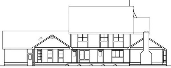 Victorian House Plan 91714 Rear Elevation
