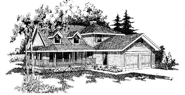 Country House Plan 91716 Elevation