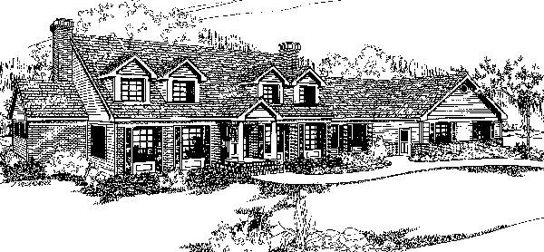 Country House Plan 91718 Elevation