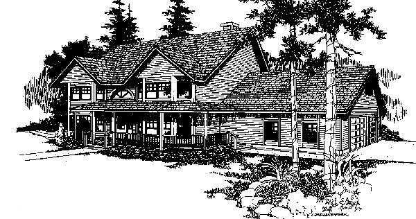 Country House Plan 91723 Elevation