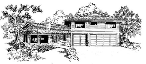 Contemporary Prairie Style Southwest House Plan 91727 Elevation