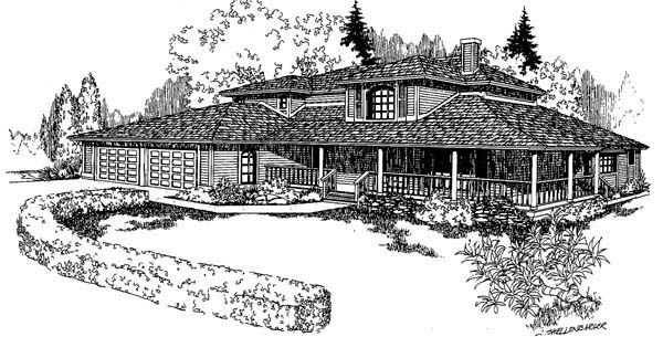 Country Southwest House Plan 91730 Elevation