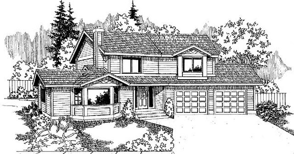 Contemporary Country House Plan 91736 Elevation