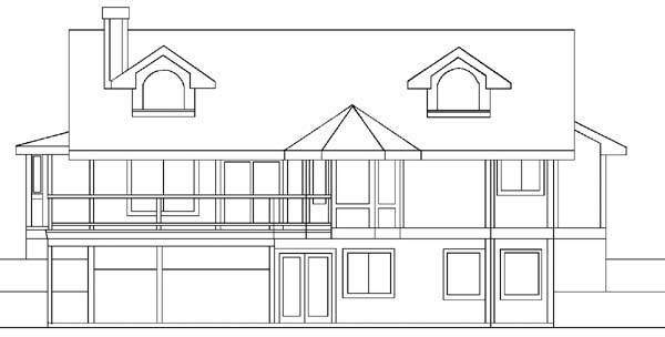 Ranch House Plan 91739 Rear Elevation