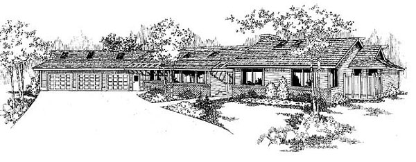 Ranch House Plan 91740 Elevation