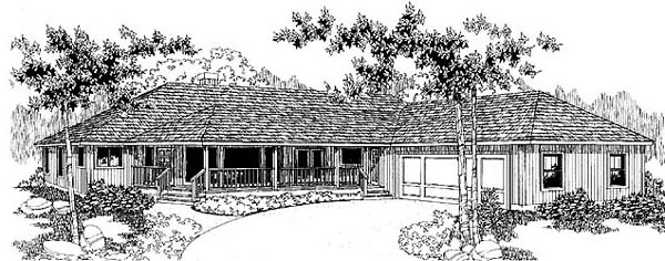 Ranch House Plan 91744 Elevation