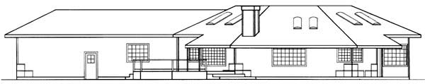 Ranch House Plan 91745 Rear Elevation