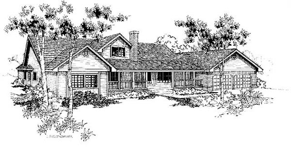 Ranch House Plan 91747 Elevation