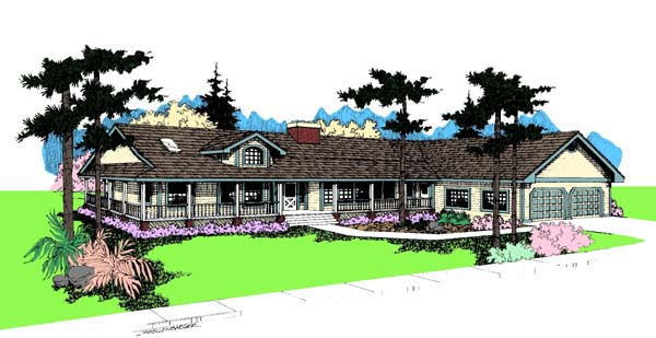 Ranch House Plan 91749 Elevation